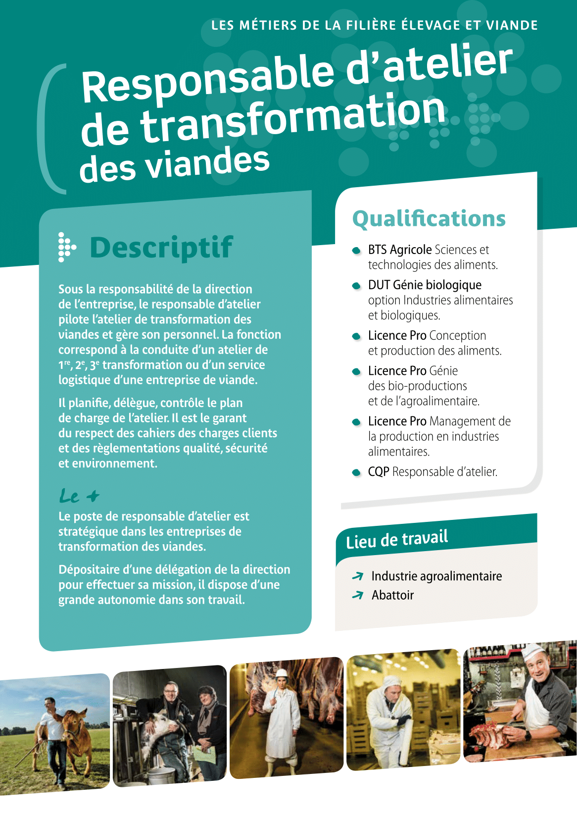 Responsable d'atelier de transformation des viandes