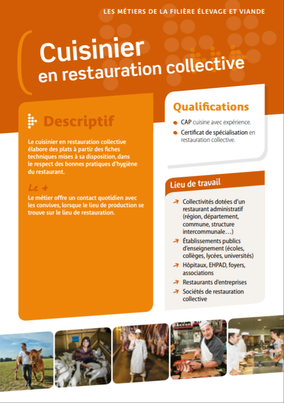 Cuisinier en restauration collective