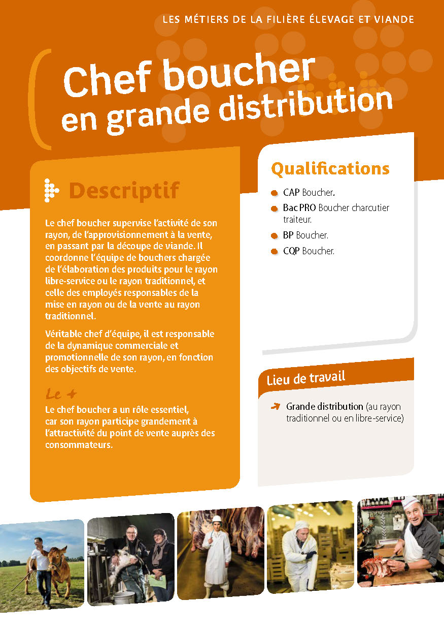Chef boucher en grande distribution