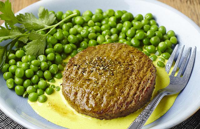 Steak haché de boeuf au lait de coco