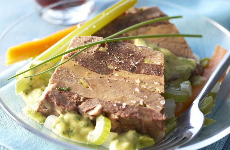 Terrine de langue de bœuf au foie gras