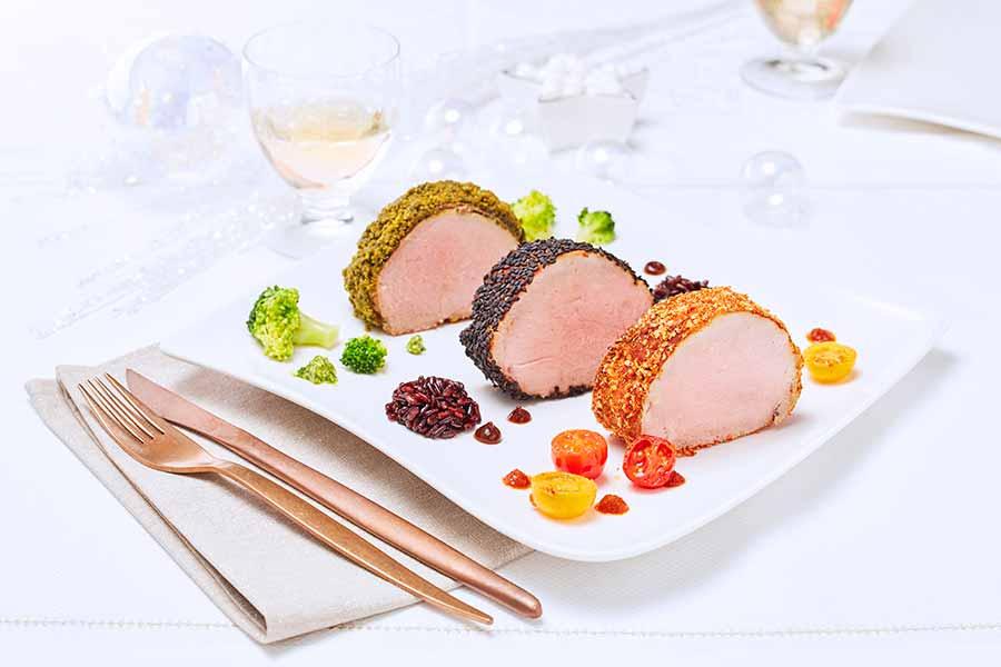 Dressage d une assiette de m daillons de veau aux trois - Dressage des plats en cuisine ...