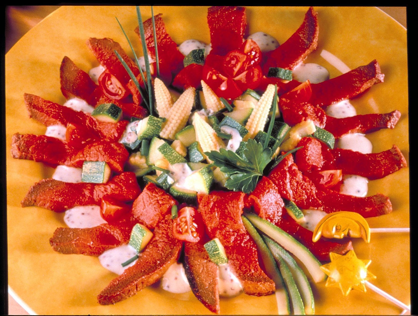 Marguerite de salade au boeuf recettes de cuisine la for Marguerite cuisine