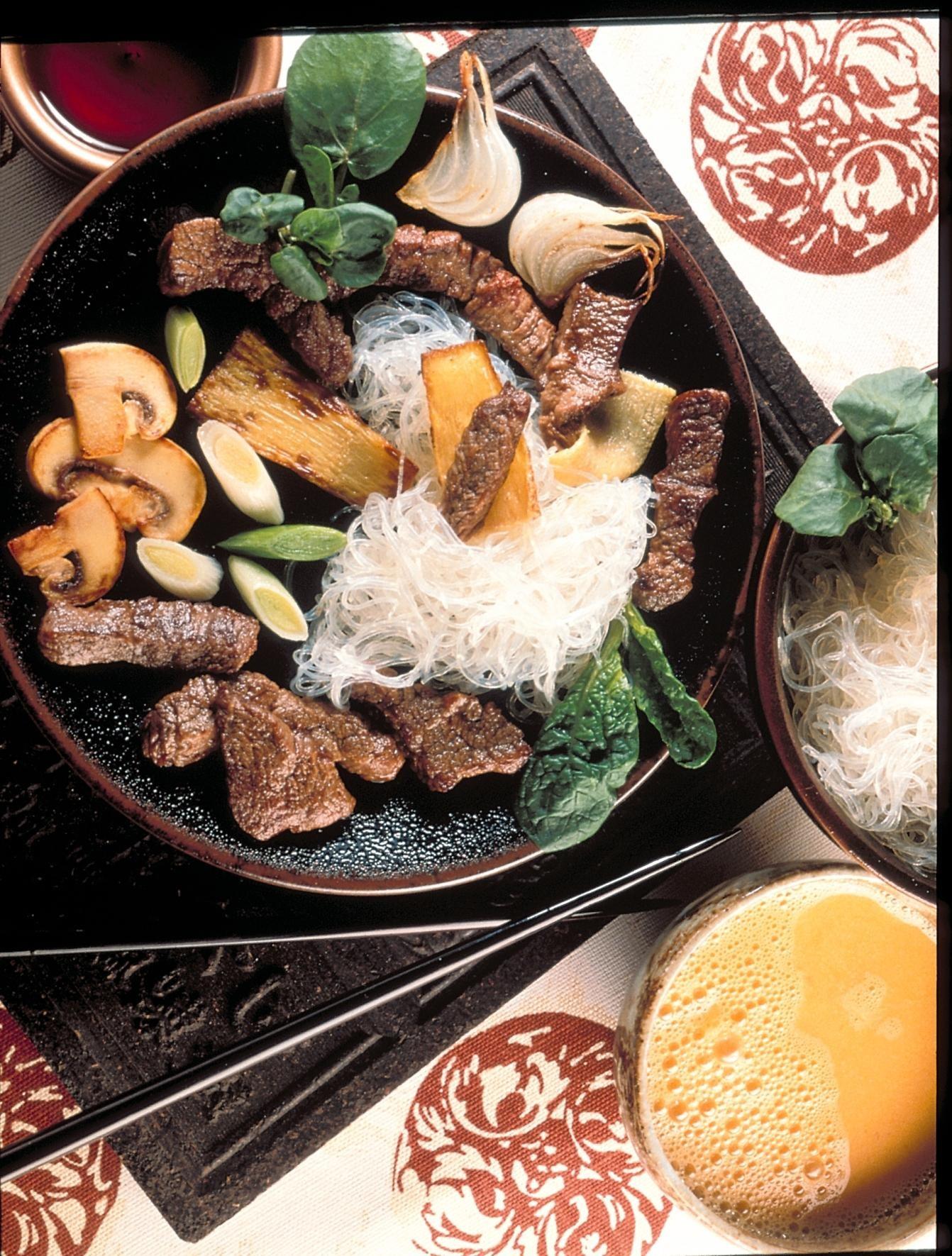 Sukiyaki japonais recettes de cuisine la for Viande cuisinee