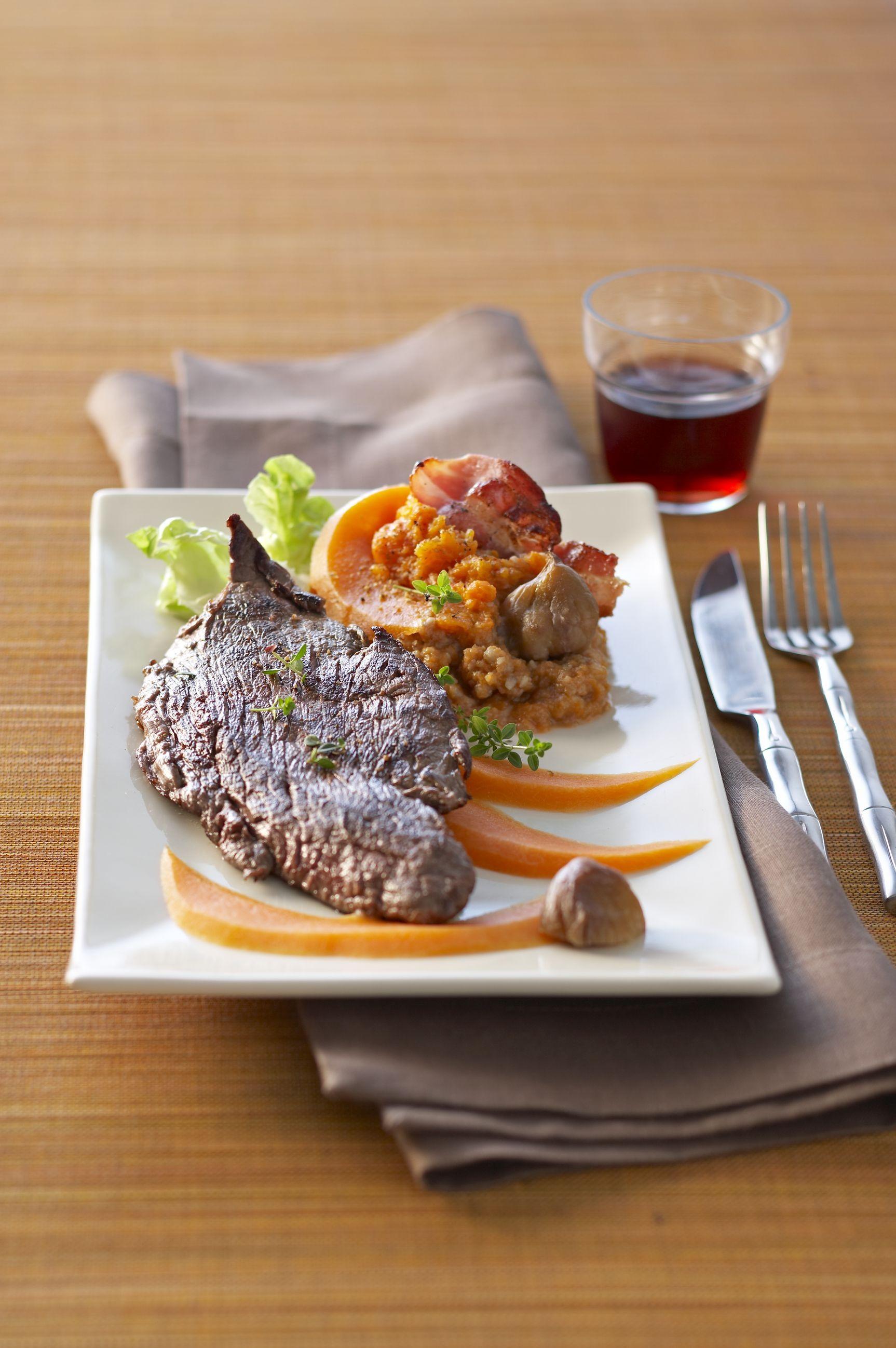 Steaks de viande chevaline pur e de potimarrons aux - Cuisiner les potimarrons ...