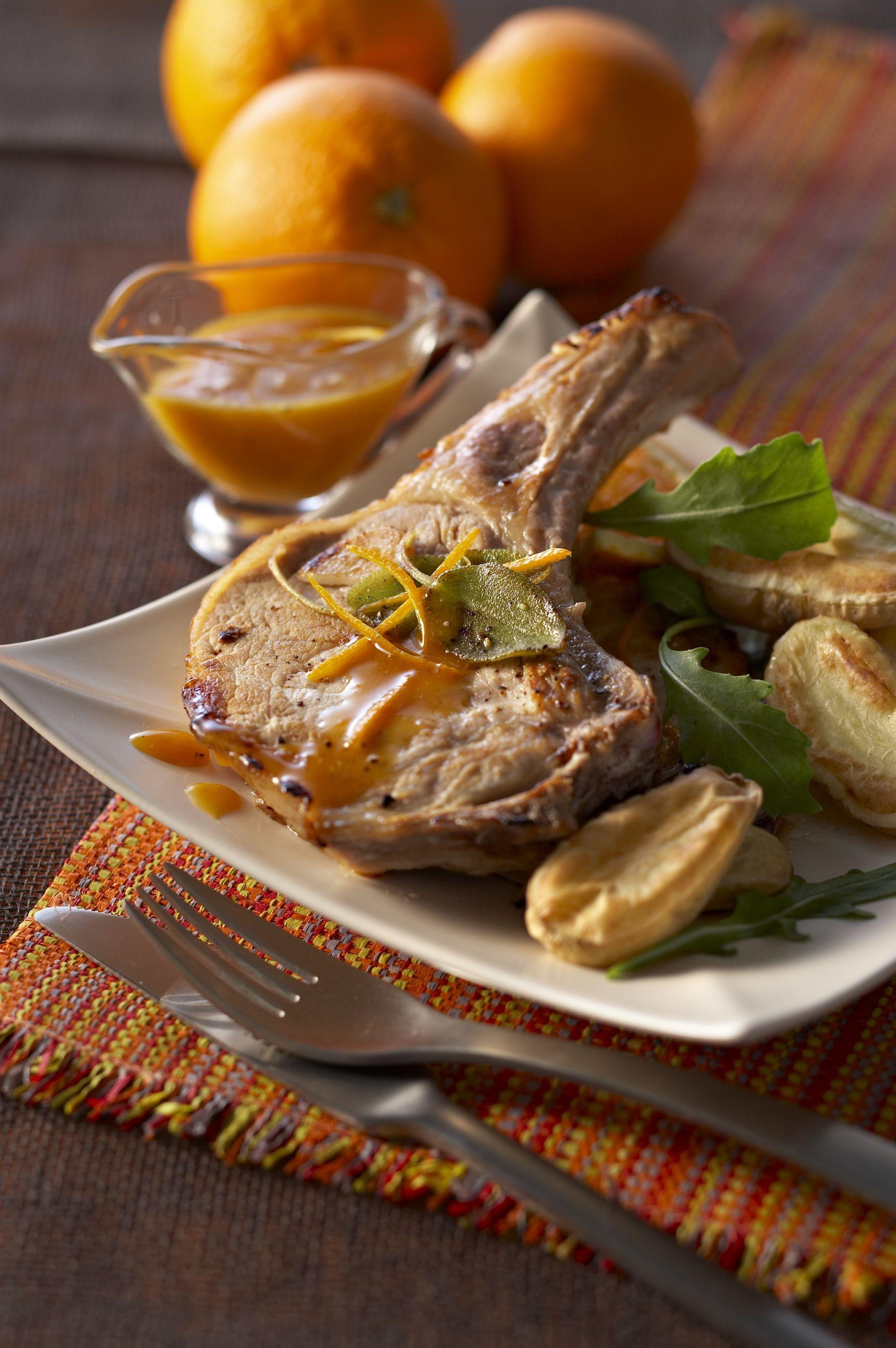 C te de porc grill e la sauce l 39 orange recettes de - Recette sauce pour viande rouge grillee ...