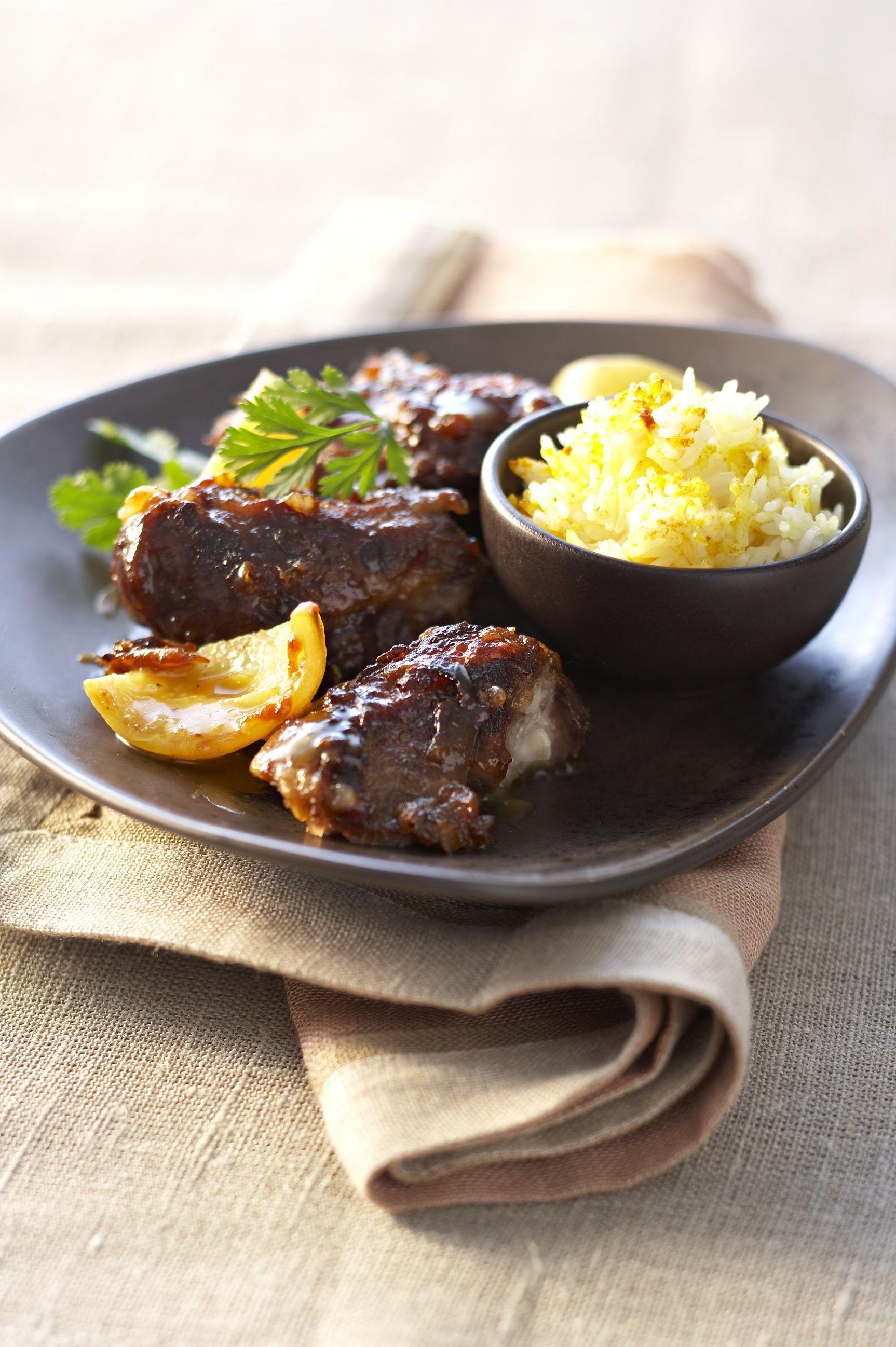 Joues de porc aux citrons confits recettes de cuisine for Viande cuisinee