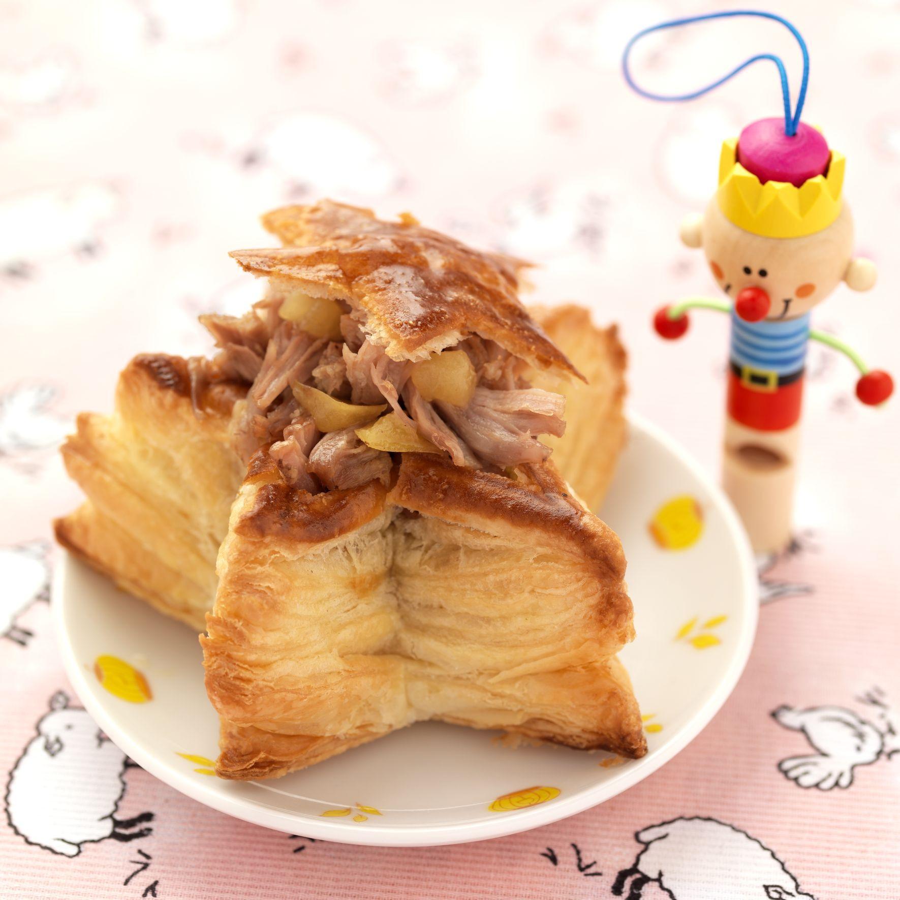 Etoile feuillet e au collier d 39 agneau et pommes la cannelle recettes de cuisine la - Comment cuisiner le collier d agneau ...
