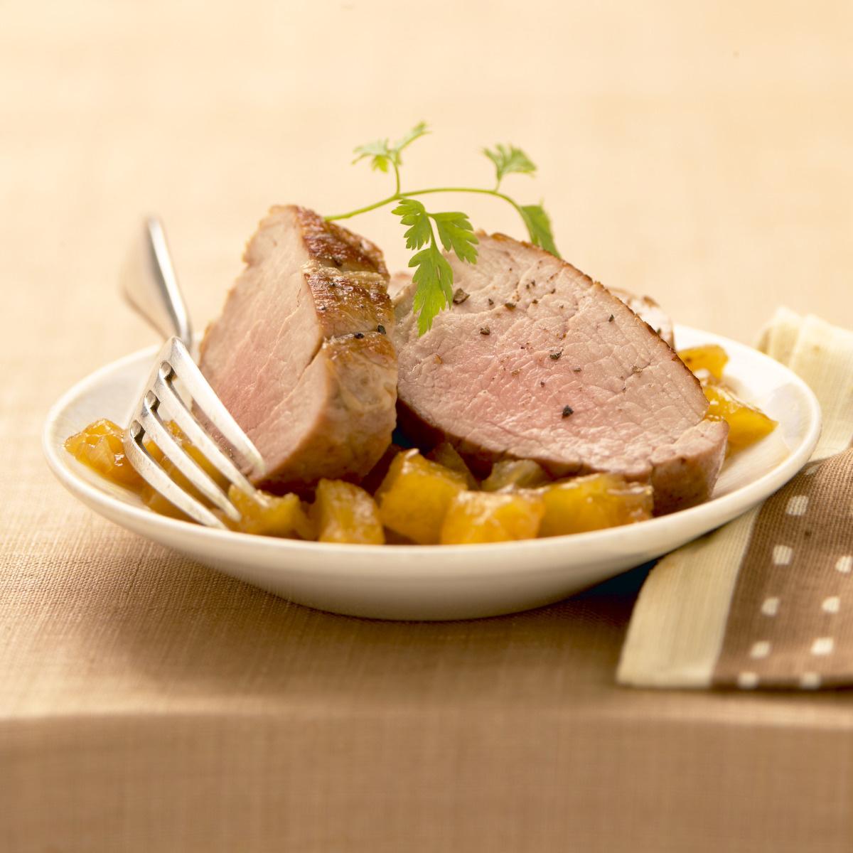 Filet mignon de porc au chutney d 39 ananas recettes de - Cuisine filet mignon de porc ...