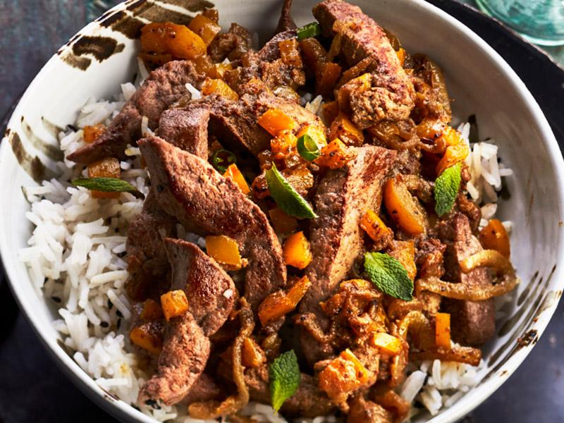 Foie de veau l indienne recettes de cuisine la - Cuisiner le foie de veau ...