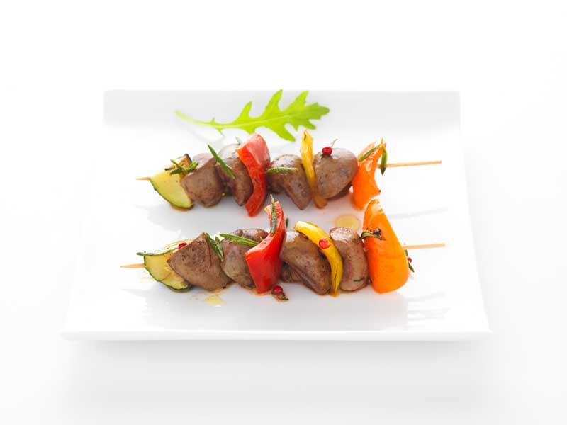 Rognons de porc en brochettes recettes de cuisine la - Cuisiner rognons de porc ...