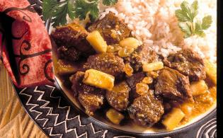 Curry de boeuf aux fruits