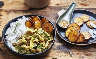 Curry de boeuf express au lait de coco