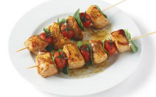 Brochettes de veau au curry